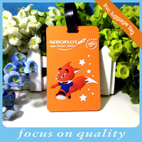 high quality customized brand advertising gift name embroidered luggage tag novelty pvc luggage tag