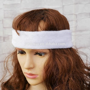 wholesale solid color high stretch terry cotton kids sports headbands
