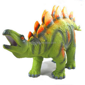 Hot Sale Rubber Wild Realistic Animal Plastic Toy Rubber Dinosaur