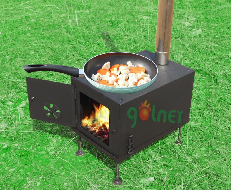 stufa campeggio : stufa a legna/fornello da campeggio con il forno/barbecue stufa-Stufa ...