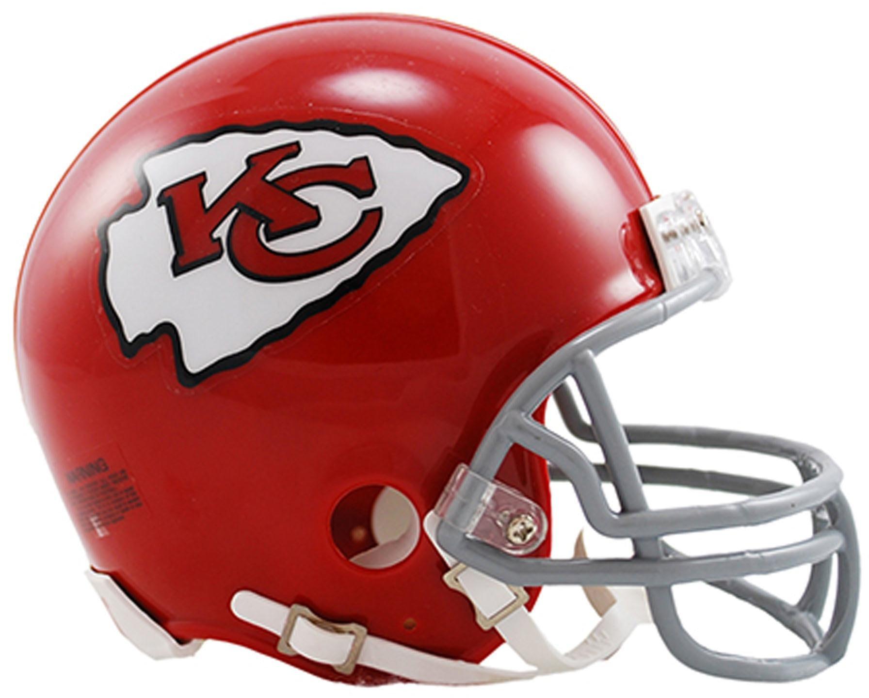 61cbe5e9e6b Get Quotations · Sports Memorabilia Riddell Kansas City Chiefs VSR4  Throwback 1963-1973 Mini Football Helmet - Fanatics