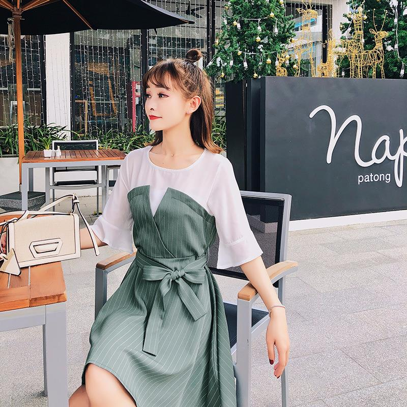2018 fashion korea designer jurken groothandelaren kleine bestelhoeveelheid vrouwen model china fabriek koreaanse traditionele jurk