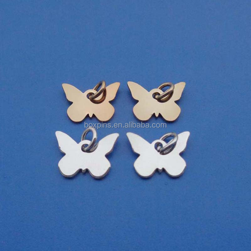 type butterfly blank sublimation jewelry tag charms