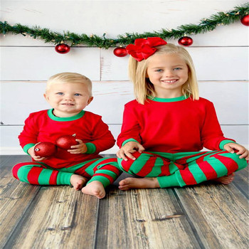 Kids Christmas Pajamas.2017 Kids And Adults Christmas Pajamas Manufacture In China Red And Green Striped Matching Family Christmas Pajamas Buy Pajamas Kids Christmas