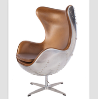 wholesale aluminum cover genuine leather fiberglass dining leisure chair