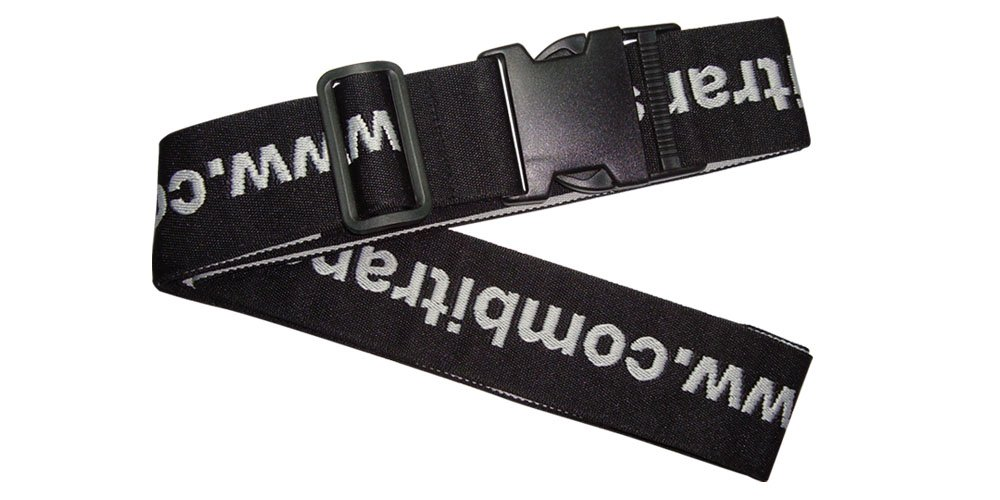Wholesale Promotional Custom design logo polyester luggage belts with lock