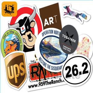 Die cut sticker/ Wholesale customised transparent stickers/waterproof sticker printing