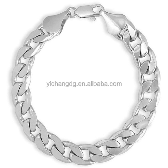 High Quality Stainless Steel Tube Curb Link Chain Bracelet With Square Buckle