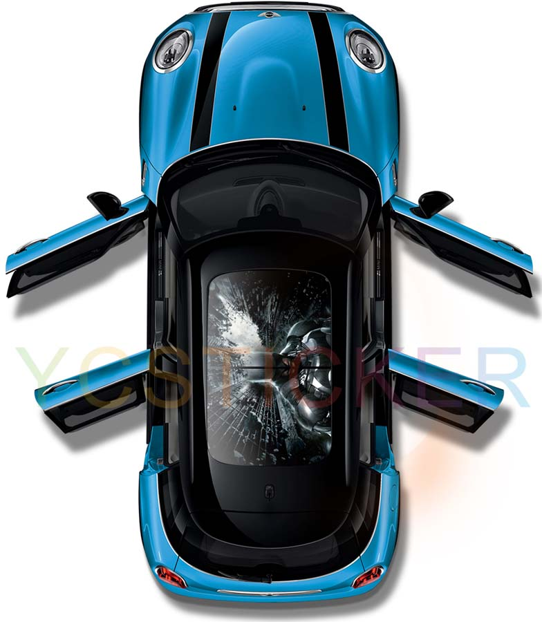 new premium custom vinyl decals car decoration roof PVC sticker skin with uv resistance