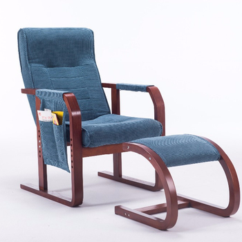 Wooden Recliner Reclining Chair With Footrest