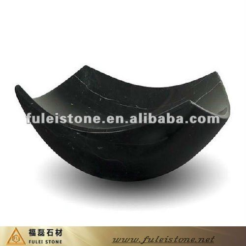 black cultured marble basin