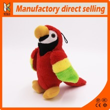 professional on custom cheap red parrot bird plush animal stuffed toy