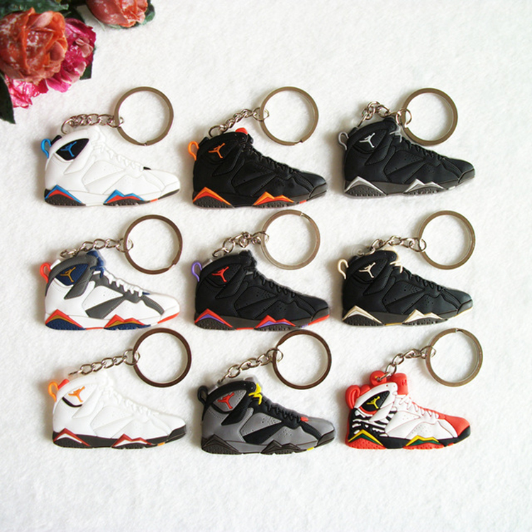 >>>Promotion Product Bag Charm Accessories Mini Silicone Shoes Jordan 12 Keychain Sneaker Keychain PVC Key Chain