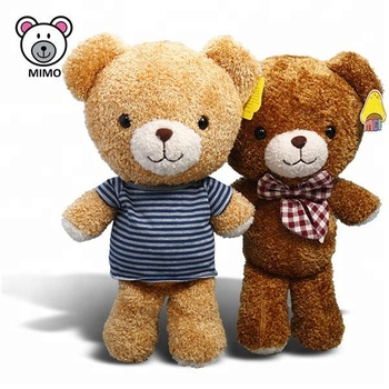 Custom Cute Couple Plush Brown Teddy Bear T Shirts Wholesale Cartoon