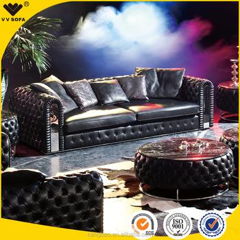 Classic Luxury Italian Design Full Leather Sofa High End Sofa Set