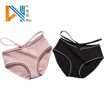 wholesale hollow out sweet simple sexy thread briefs women cotton panties for man