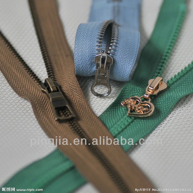 Autolock Zipper Slider Zipper Heads Colorful Metal Slider