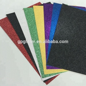 Custom size glitter paper sheets for DIY crafts at cheap price and best quality