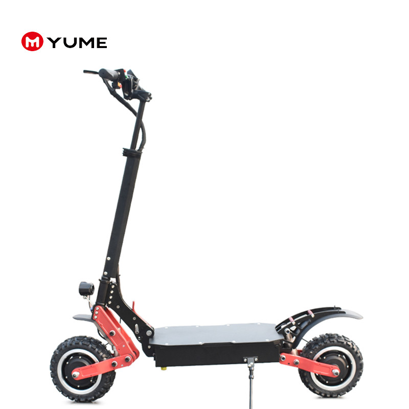 YUME 3200w fast scooter for adults off road electric scooter with 2 wheel electric city scooter, Black red