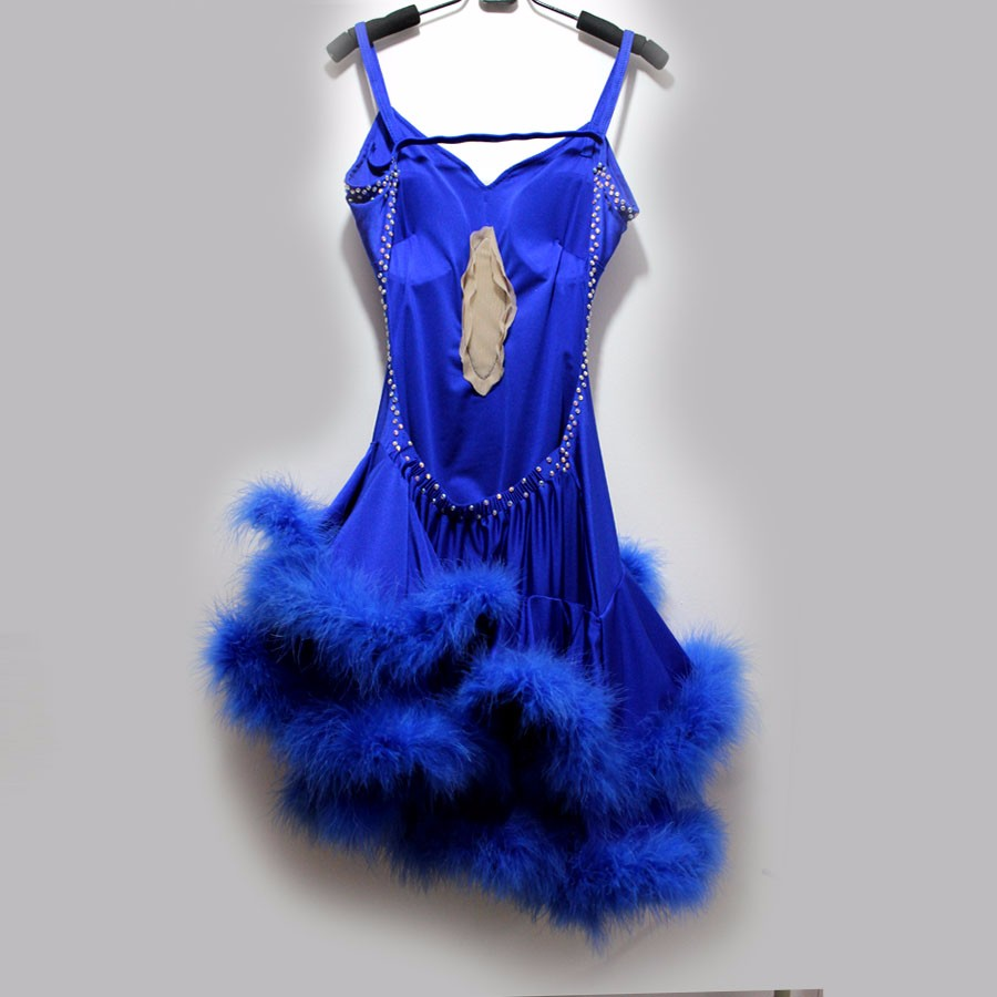 New style Latin dance costume sexy senior stones feather latin dance dress for women latin dance competition dresses S-4XL 10