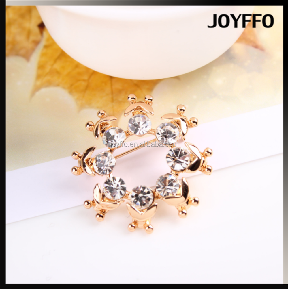 Hotsale elegant high class scarf buckle and brooch diamond hijab pins
