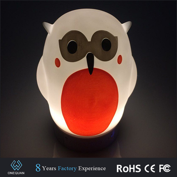 New Micro digit product Wireless portable mini owl shape bluetooth speaker light with fm