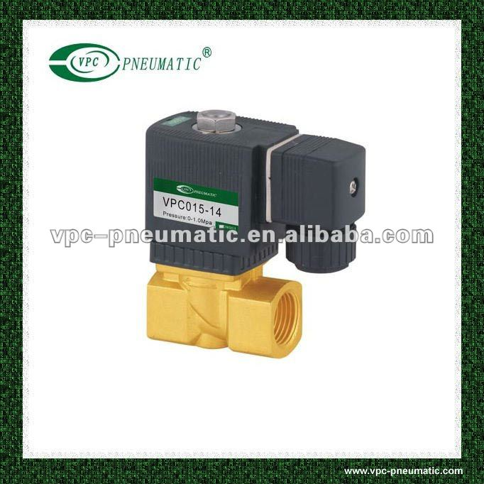 VPC series 2/2 step direct acting diaphragm brass solenoid valve
