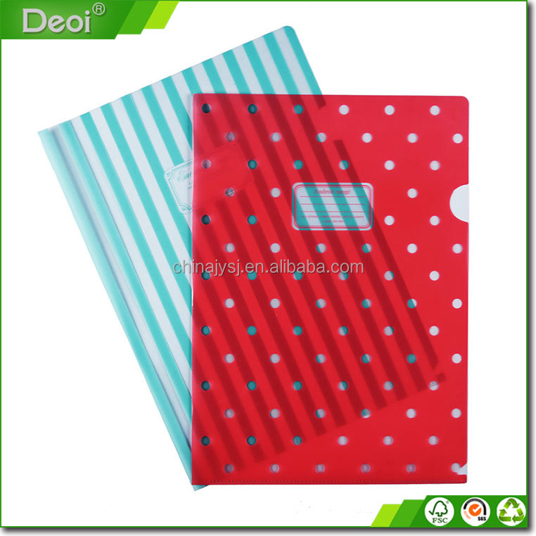 2016 Custom Pp Pvc Clear Plastic A4 File And Folder