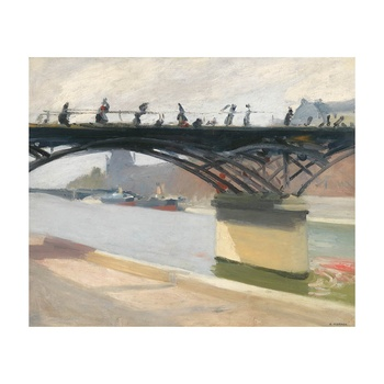 Free Shipping Edward Hopper Giclee Canvas Print Paintings Poster Reproduction Fine Art Wall Decor(Le Pont Des Arts)