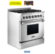 30 Inch 4 Burners Dual Fuel Ranges gas cooker Ranges With Electric Conventional Oven
