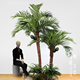 Artificial Outdoor Coconut Palm Tree Plastic Tall Tree for Shopping Mall Indoor Decoration