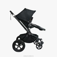 Good baby stroller supplied with large multi-function canopy and friendly hand operated parking brake in the handlebar