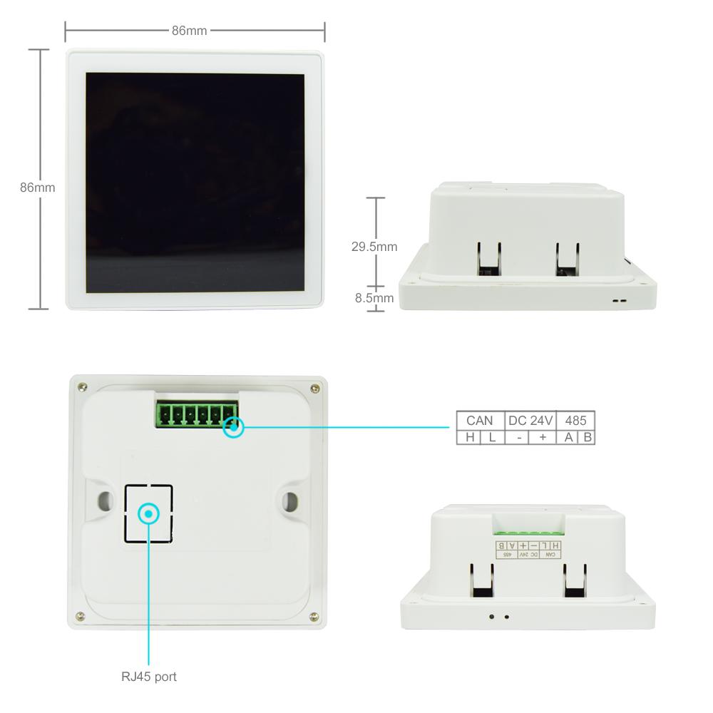 โรงแรม WIFI สวิตช์ควบคุมระยะไกลผนัง 8 แก๊ง 8 way สวิตช์ไฟ LED สำหรับระบบอัตโนมัติบ้านอัจฉริยะ