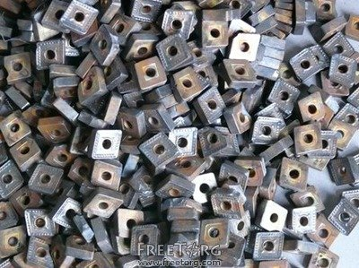 Tungsten carbide inserts scrap