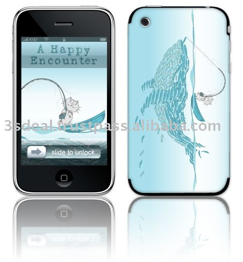 Mobile phone protection skin designed by artist of Legend : A Happy Encounter