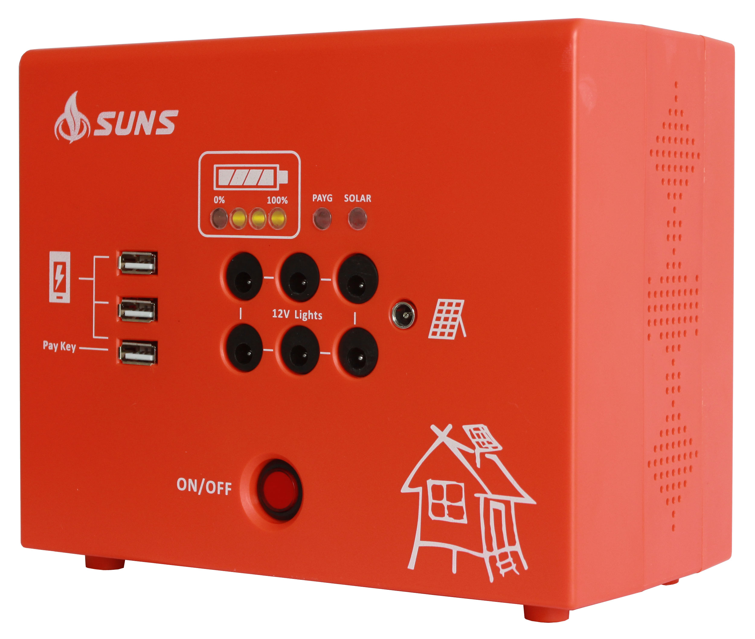 Pay as you go prepaid solar home power batteries systems 60W off grid complete