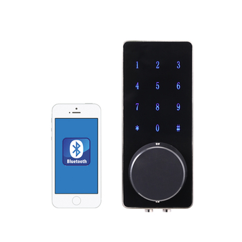 Widely used in apartment door lock body glass touch screen smart home indoor lock bluetooth lock