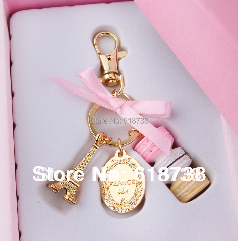Cake Macarons fashion France LADUREE Effiel Tower keychain ...