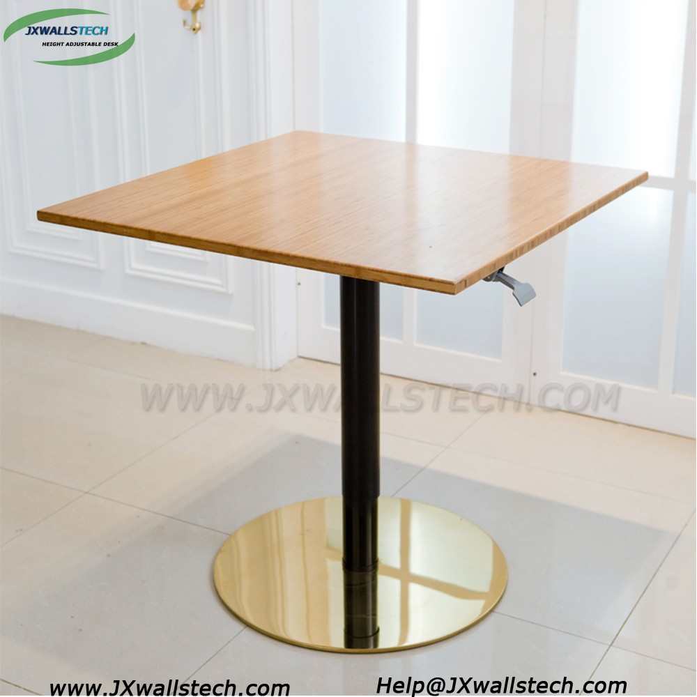 One leg 150N load sit and stand home & office 15KG fashion design height adjustable gas lift table