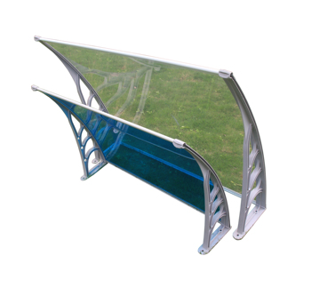 60x80cm ABS bracket outdoor canopy polycarbonate aluminum Rain/sun Window Awning