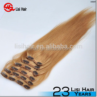 Wholesale New Style Full Cuticles Remy Human Hair Last one year clip in eurasian hair extensions