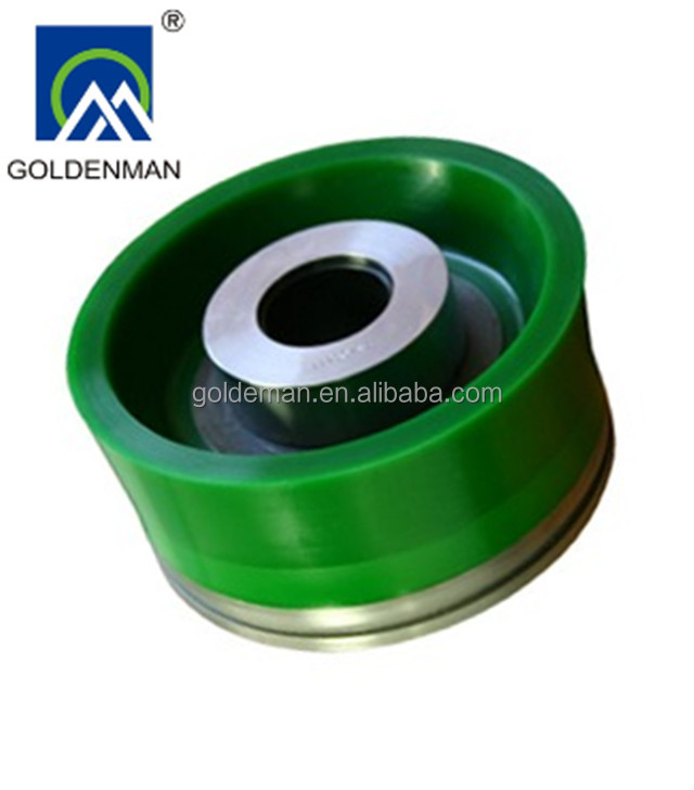 PZ-8 oil drilling mud pump bonded urethane ceramic piston