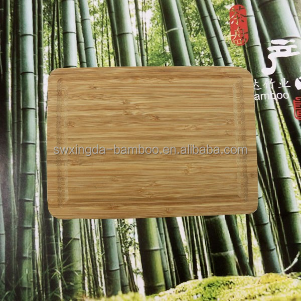 Breathing -Forest Bamboo Cutting Board with Certification