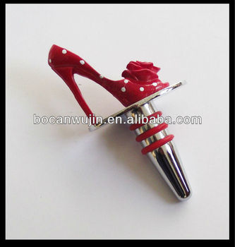 Cartoon High Heel Shoe Wine Stopper Stoppers Shoes From Spouse Champagne Cork Bottle Bar Silicone Make Heels