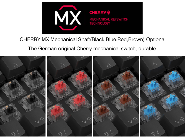 Cheap Shenzhen Mini Mechanical Keyboard Cherry MX HGK104