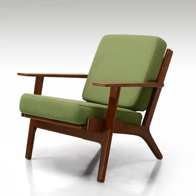 현대적인 디자인 단단한 나무 소파 싱글 인승 식당 의자 한스 웨 ...