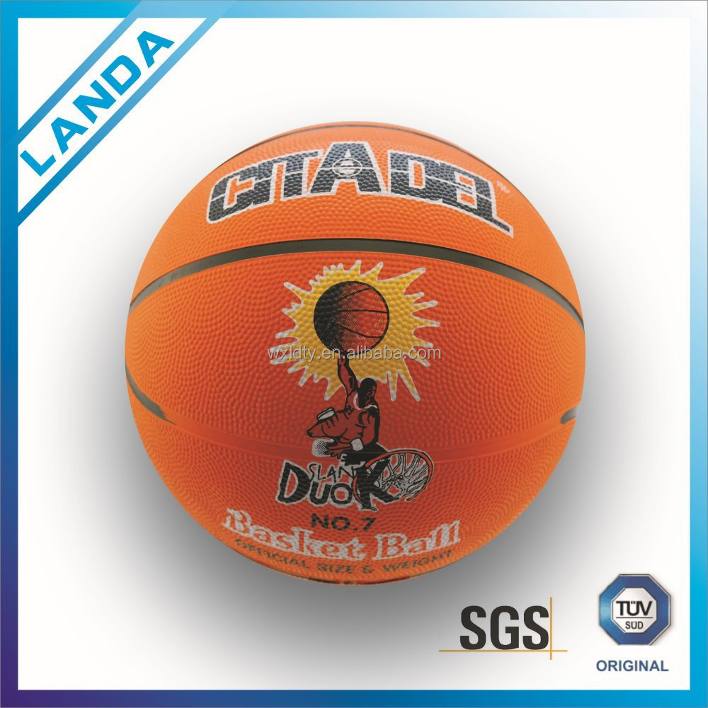 crazy selling excellent quality size 5 women's rubber basketball for promotion