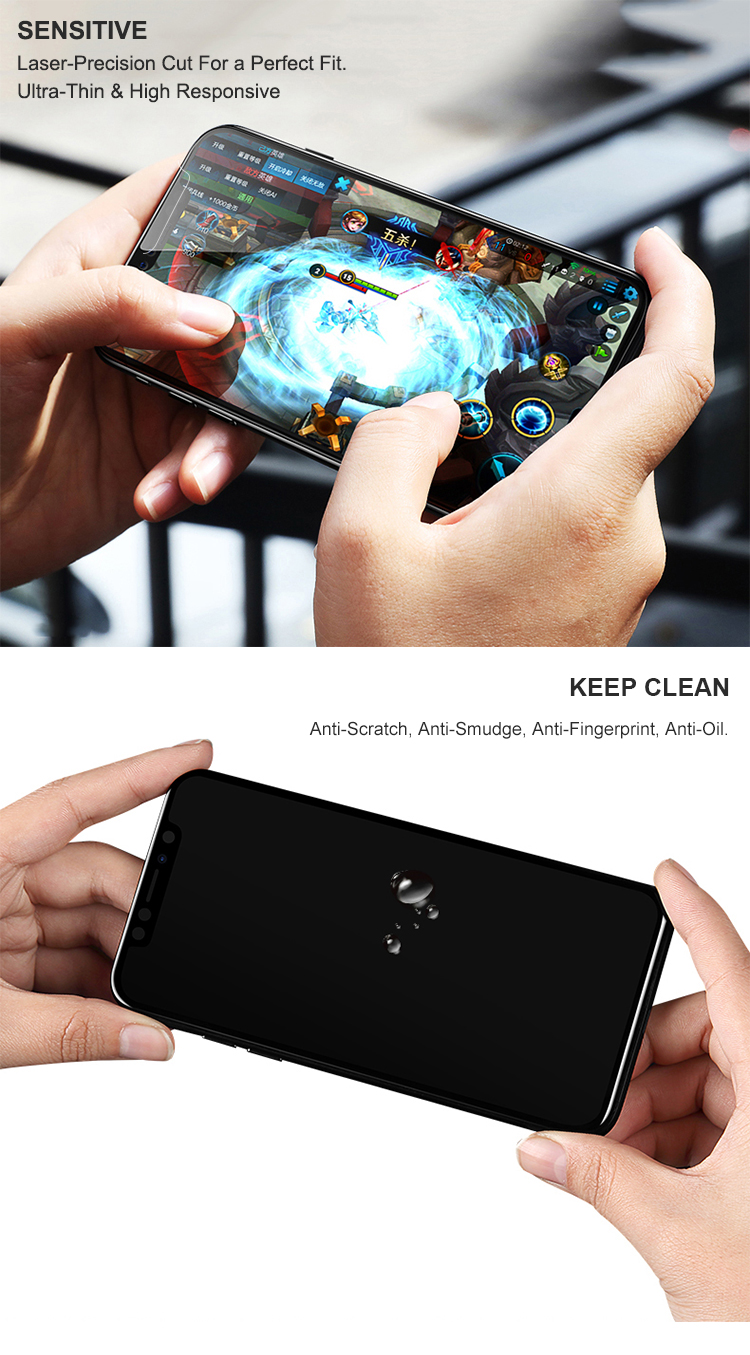 China Manufacturer 9H Premium Mobile Tempered Glass Screen Protector For iPhone X