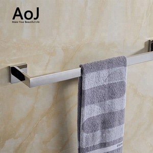 Wall mounted bathroom accessories extension stainless steel single towel bar