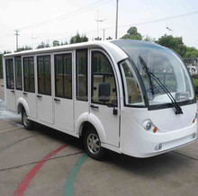 11 seater electric sightseeing bus, aluminum hard door, EG6118KBF